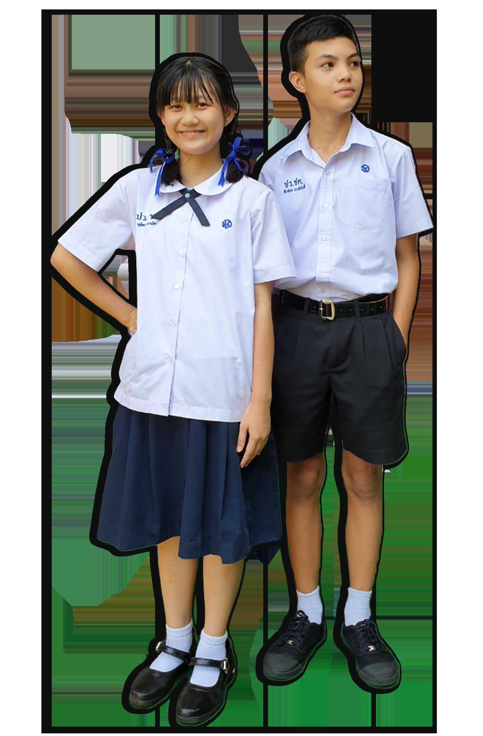 ชุดนักเรียนระดับชั้นมัธยมศึกษา